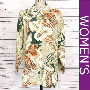 Kaktus LongSleeve Lightweight Hawaiian Style Shirt